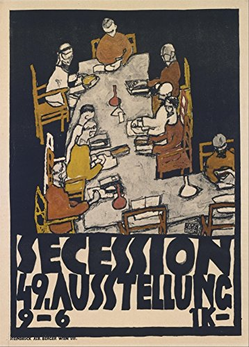 """EGON SCHIELE """"Sezession 49. Ausstellung"""" 1918. 250 g/m², glänzend, Kunstdruck, A3, Reproduktion"""