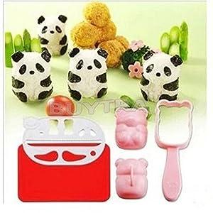 leading-star Neue 3D-BENTO Zubeh?r Rice Ball Mould mit Nori Schlag Sushi Panda Form