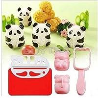 leading-star Accesorios para bento, 3D, molde para arroz y nori, forma de panda