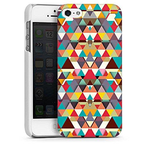 Apple iPhone 4 Housse Étui Silicone Coque Protection Triangles Triangles Triangles CasDur blanc