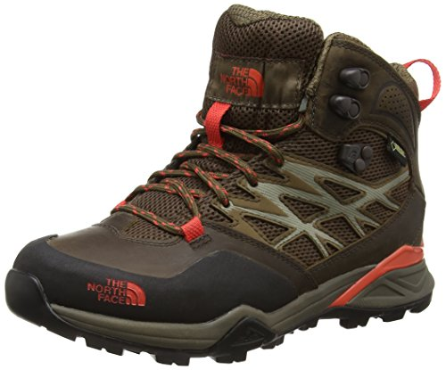 The North Face Hedgehog Hike Mid Gore-Tex,  Damen Wanderschuhe,  Braun - Brown (Morel Brown/Radiant Orange _ Grx) - Größe: 40 EU (7 UK), 40 EU