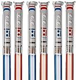 hibuy 5+1 Kinder Spielzeug selbstaufblasende Folien-Lichtschwerter, 100cm lang, rot und blau Gemischt