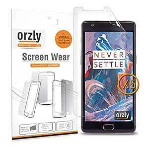 Orzly® - Pacchetto di 5 pellicole per la protezione del Display di OnePlus 3 - Trasparente [ 5x pellicole per display OnePlus 3 ]