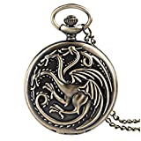 Game of Thrones casa Targaryen reloj a bolsillo oro FBA