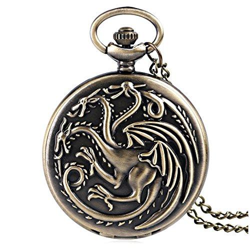 Macchia Goodies - Reloj de bolsillo de bronce, diseño de la casa Targaryen de...