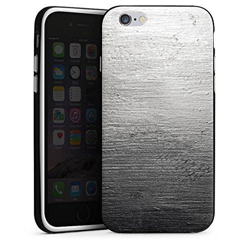 Apple iPhone 5 Housse Étui Silicone Coque Protection Béton Mur Look motif Housse en silicone noir / blanc
