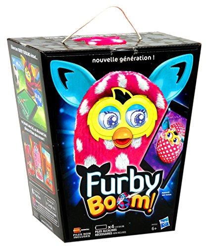 Furby Boom–Mascotte Elettronica (Hasbro A6415) (Versione in Tedesco) Rosa con Pois Bianchi