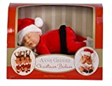 Anne Geddes 9 inch Baby Santa Doll - Christmas Babies Bean Filled Collection