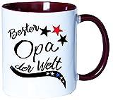 Mister Merchandise Kaffeebecher Tasse Bester Opa der Welt Geschenk Papa Opa Schwanger Baby Schwangerschaft Teetasse Bech
