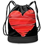 Juzijiang Love Fashion Beam Mouth Shoulder Bag Travel Drawstring Backpack Shoulder for Women
