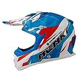 NENKI Helmets NK-316 Casques de Motocross pour Hommes et Femmes ECE approuvés (Blanc...