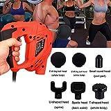 showsing Muskelmassage Elektrische Massagepistole, Handmassagegerät mit tiefem Gewebe Muskelmassagegerät, Silent Muscle Stimulation Körper Entspannen Muskeln Massager Gun (Orange)