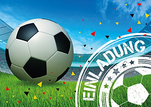 Kindergeburtstag Jungen Fussball Geburtstag Jungs Geburtstagseinladungen Einladungen Geburtstagsparty Kartenset ()