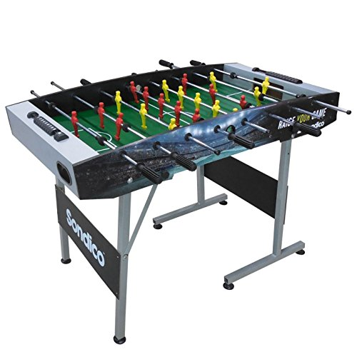 Sondico 4ft Football Table L 122 x W 61 xH 79cm Playing Gaming Accessories