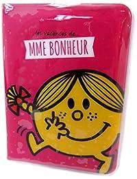 "Monsieur Madame [P1782] - Etui passeport ""Monsieur Madame"" rose (Mme Bonheur) - 13. 5x10 cm"
