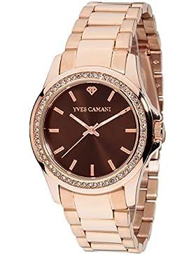 Yves Camani Damen-Armbanduhr Analog Quarz YC1091-D