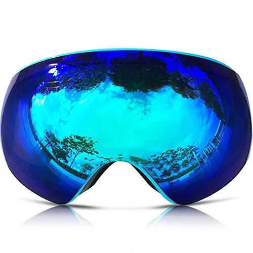 Zhas motoslitta snowboard sci di pattino occhiali con lenti rimovibile e ampio angolo doppia lente antiappannante sferica grande professionale multicolore unisex occhiali da sci