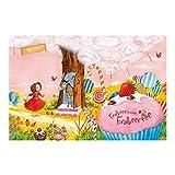 Vliestapete–Fensterbild Erdbeerinchen Erdbeerfee–Schlaraffenland–Wandbild breit