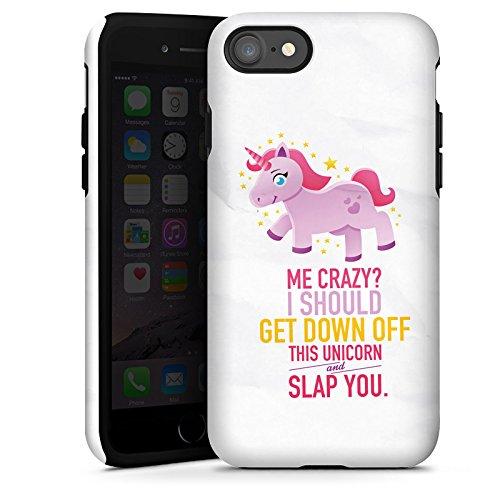 Apple iPhone X Silikon Hülle Case Schutzhülle Einhorn Unicorn Mädchen Geschenk Tough Case glänzend