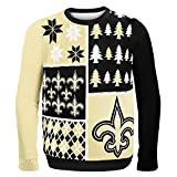New Orleans Saints Busy Block Crewneck NFL Ugly Sweater