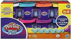 Hasbro Play-Doh A1206EU4  - Paquete de 8 vasos con plastilina