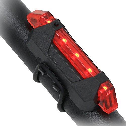 USB BateríA Para Bicicleta Faros Traseros Para, EASTWILD Bicicleta Luces Traseras Para Casco Impermeable Alto Brillo Bicicleta Luces De Advertencia