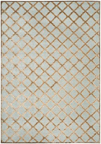 Safavieh Moderner Teppich, PAR350, Gewebter Viskose, Gold Braun/Grau, 160 x 230 cm - Viskose-teppich