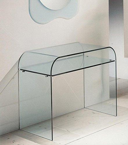 Consolle Cristallo Ingresso.Tavolo Consolle Moderno In Cristallo Curvato Salotto