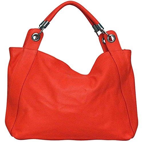 Chapeau-tendance - Sac à main cuir Orange - - Femme