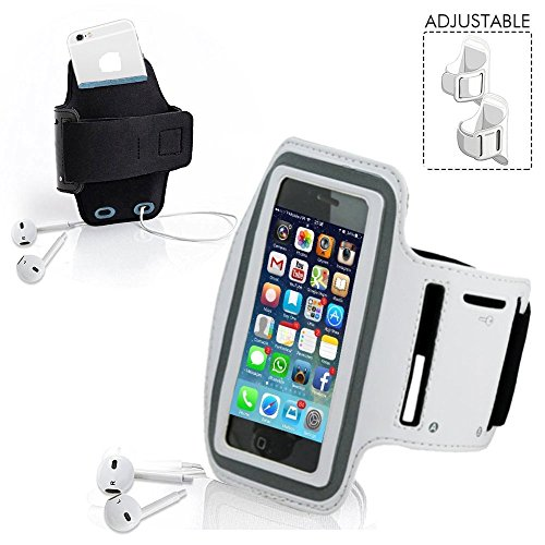 RiaTech® Water Proof Sports Armband Case Cover Holder- White