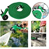 Quick To Click 4-in-1 Pressure Washing Multi Functional Water Spray With Hose Pipe -10M Long, Garden & Car Wash