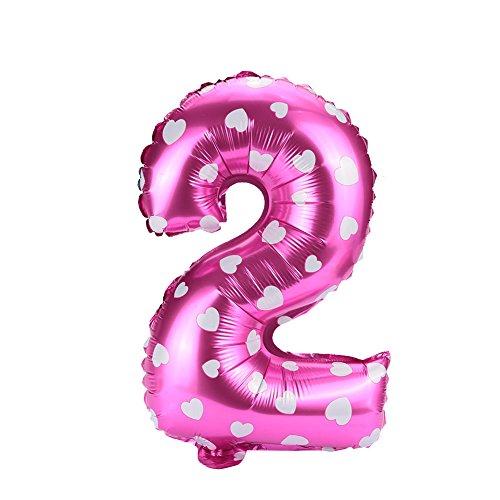 Kicode Nummer Ballon 16 Zoll Aluminiumfolie Pink Blau Wohnkultur Weihnachts Halloween