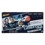 Nerf Laser Ops AlphaPoint, set van 2, laserdagblaster met licht- en geluidseffect, kinderspeelgoed, incl. snellaadknop voor infrarood schoten, ook voor volwassenen Single multicolor
