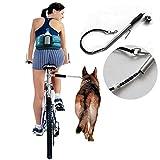 LanLan Cuerda Ajustable de la tracción de la Bici del Anillo de Cadena del Animal doméstico del Acero Inoxidable de la Moda