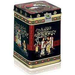 CHINA GUNPOWDER - grüner Tee - in einer Black Jap Dose eckig (Teedose) - 88x88x122mm (200g)
