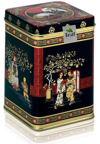 MILKY OOLONG – Aromatisierter grüner Tee – in einer Black Jap Dose eckig (Teedose) – 77x77x100mm (75g)