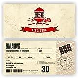 Einladungskarte Geburtstag zum BBQ I Einladung zur Gartenparty (70 Stück)
