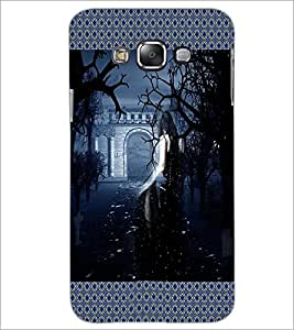 PrintDhaba Girl in Black D-4081 Back Case Cover for SAMSUNG GALAXY A8 (Multi-Coloured)