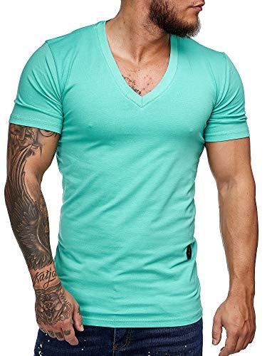OneRedox Herren T Shirt Poloshirt Polo Longsleeve Kurzarm Shirt Modell 8031 Mint XL