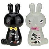 Avenue Bunny Black & White Porcelain Pig...