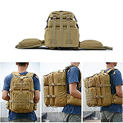 Risefit 40L Large Military Backpack Tactical Army Backpack Fishing Rucksacks, Military Rucksack for Carp Fishing, Hiking, Trekking, and Hunting Army Backpack from Risefit
