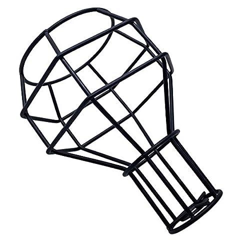 Frideko vintage industriel DIY Cage à oiseaux en métal Noir Abat-jour éclairage Coque pour pendentif lumières appliques murales