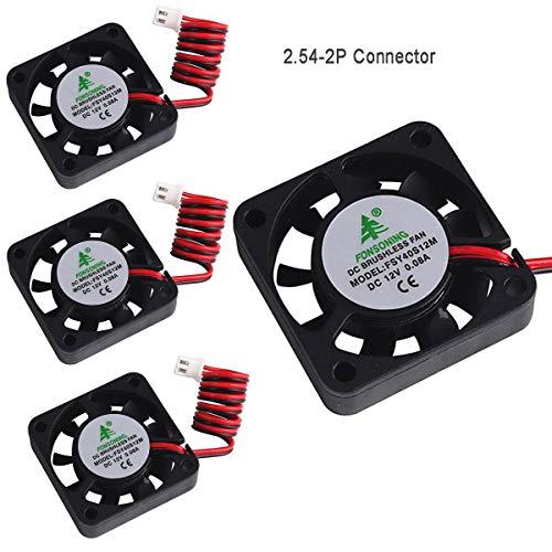 MakerHawk 4pcs Impresora 3D Ventilador 12V 0.08A DC Ventilador Mini Quiet 40X40X10mm...