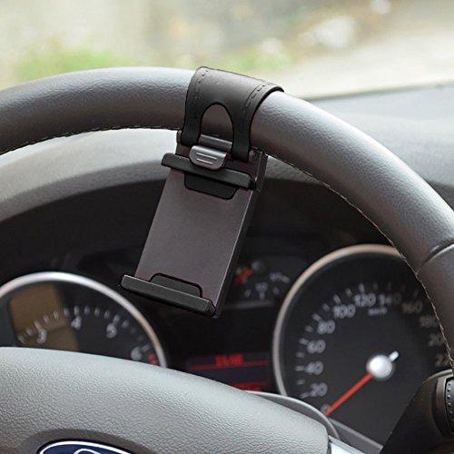 KFZ Auto Universal Lenkrad Halterung Befestigung Holder Halter Lenkradhalterung Mount für Smartphone Handy,Car Holder Mount,Multifunktional Steering Wheel Phone Socket Holder (Auto-lenkrad-handy-halter)