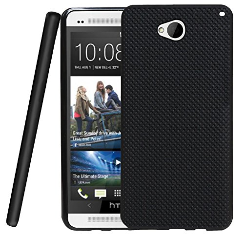 Jkobi 360* Protection Premium Dotted Designed Soft Rubberised Back Case Cover For HTC One M7 -Black  available at amazon for Rs.230