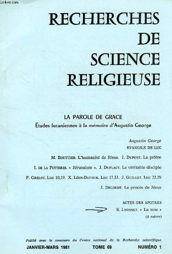 RECHERCHES DE SCIENCE RELIGIEUSE, TOME 69, N 1, JAN.-MARS 1981, EXTRAIT, 'LA VOIE' DANS LES ACTES DES APOTRES