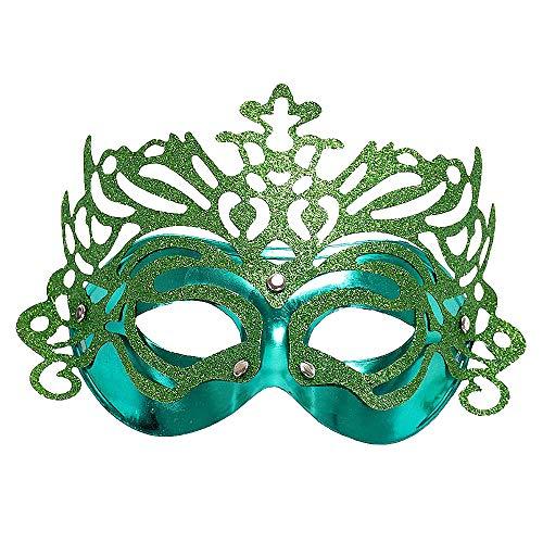 huiciParty Halloween Stylings hohles Venedig Prinzessin Costume Play-halbe Gesichtsmaske Maskerade   Crown Mask