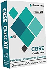 CBSE Class 12 - Combo Pack - Physics, Chemistry and Maths Full Syllabus Classroom Video (DVD)