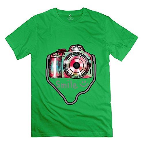 Herren-Kamera Foto T-Shirt Einzigartige Geek T-Shirts, Herren, ForestGreen