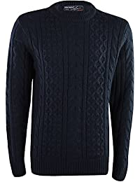 MENS CHUNKY CABLE KNIT WARM JUMPER